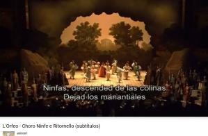 Monteverdi Orfeo Acte I