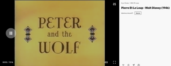 Prokofiev Pierre et le loup Disney