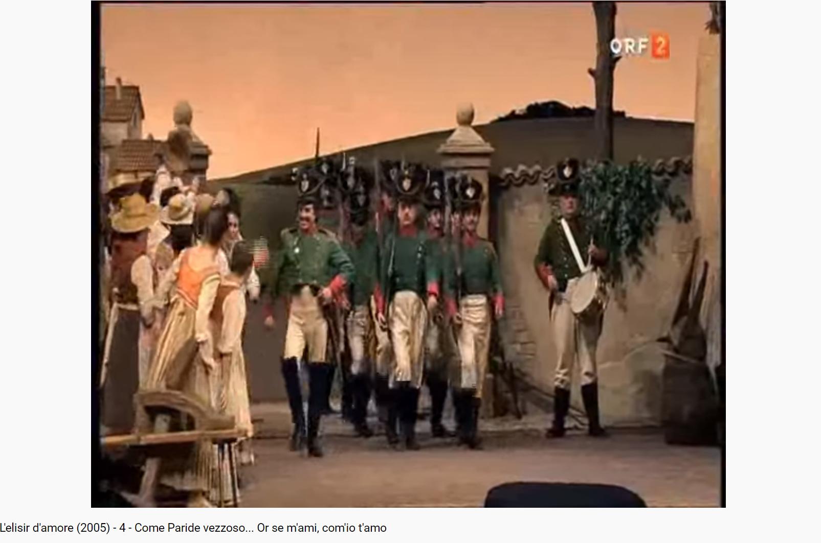 Donizetti l'Elisir d'amore Come Paride vezzoso