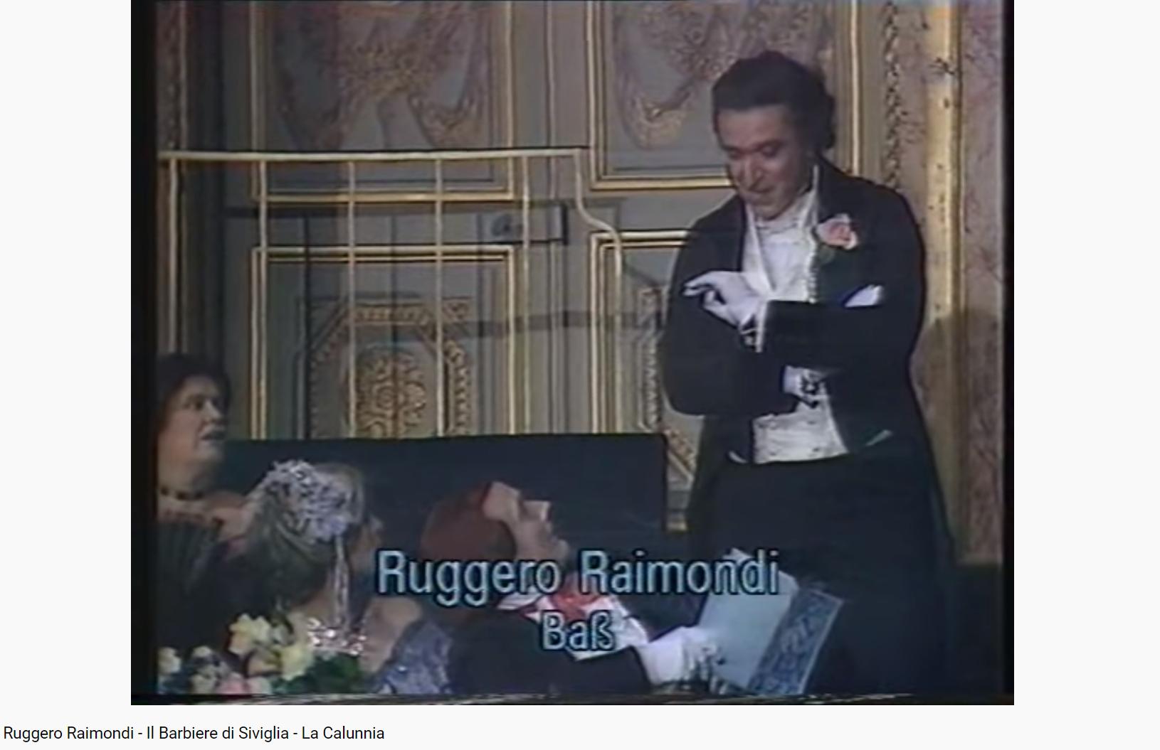Rossini le barbier de Sévilla La Calunnia