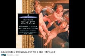 Schütz histoire de la Nativité