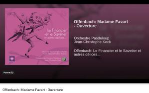 Offenbah madame Favart ouverture