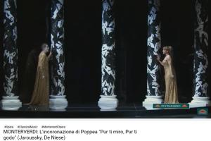 monteverdi couronnement de Poppée pur ti miro