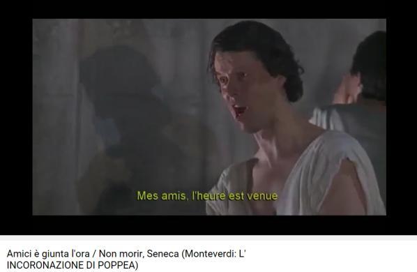 monteverdi couronnement de Poppée Sénèque