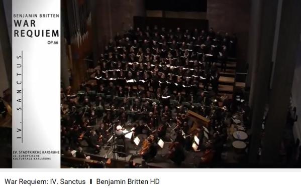 Britten War Requiem Sanctus