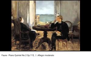 Fauré quintette avec piano