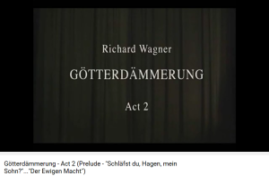 Wagner Crépuscule Schläfst du Hagen