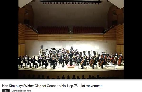 Weber concerto pour clarinette n 1