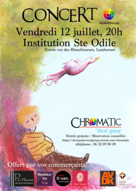 affiche chromatic vocal group