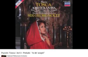 Puccini Tosca prélude acte III