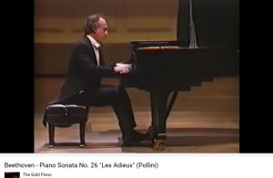 Beethoven les Adieux (le retour) Pollini