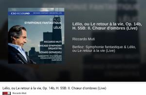 Berlioz Lélio Chœur d'ombres