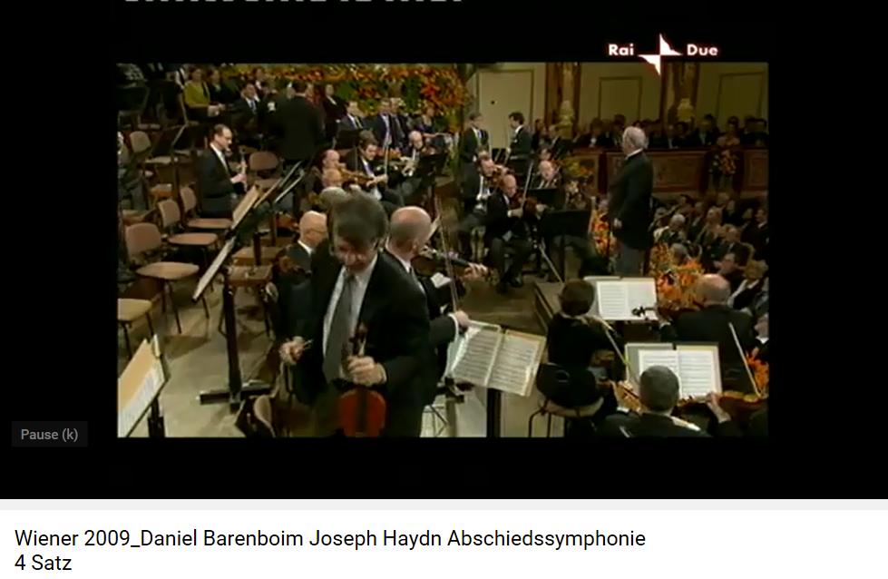 Haydn Symphonie les Adieux