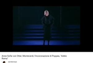 Monteverdi Couronnement de Poppée Addio Roma