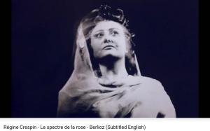 Berlioz Nuits d'été Spectre de la rose Crespin