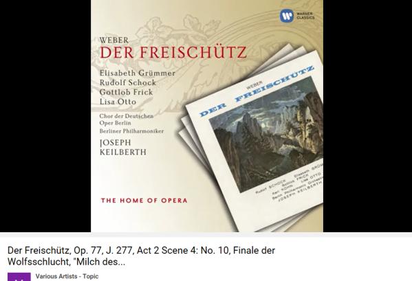 Weber Freischutz Acte II Gorges du loup
