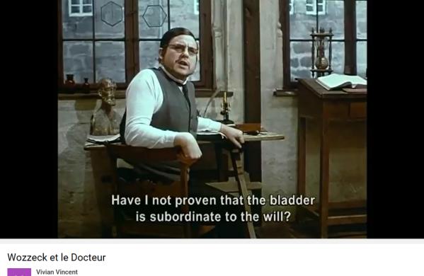 Berg Wozzeck le docteur