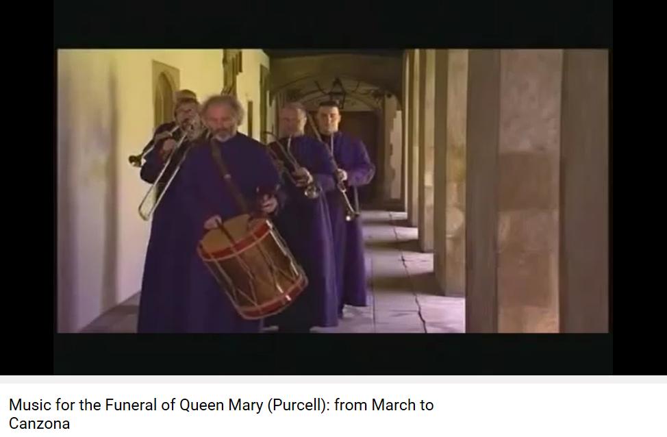 Purcell Musique pour les funérailles de la reine Mary