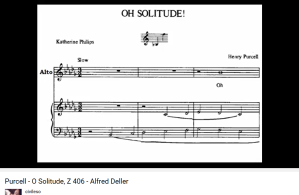 Purcell O solitude Deller