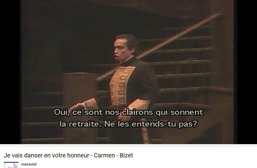 Bizet Carmen clairons qui sonnent la retraite