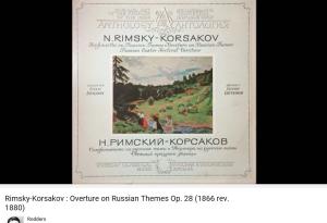 Rimsky-korsakov ouverture sur 3 thèmes russes