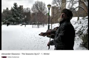 Glazounov les saisons l'hiver