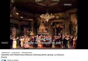 Strauss J Fledermaus Genug damit genug (valse 2e acte)