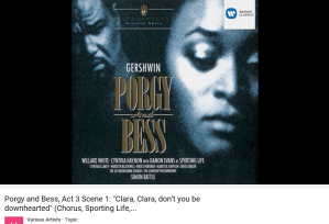 Gershwin Porgy and Bess Clara, Clara
