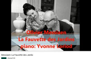 Messiaen la Fauvette des jardins