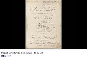 Mozart Le Clémence de Titus ouverture