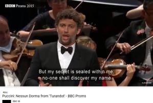 Puccini Turandot Nessun dorma