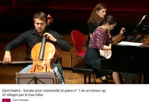 Saint-Saëns sonate piano violoncelle no 1