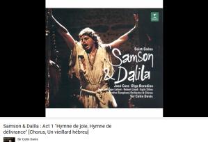 Saint-Saens Samson et Dalila hymne de joie
