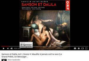 Saint-Saens Samson et Dalila maudite soit à jamais la race