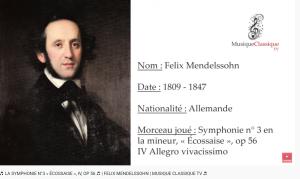 Mendelssohn symphonie écossaise