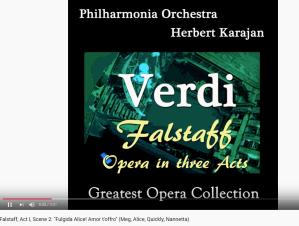 Verdi Falstaff Fulgida Alice ! Amor t'offro