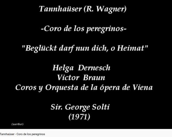 Wagner Tannhaüser 2e chœur des pélerins