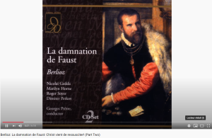 Berlioz Damnation de Faust Christ vient de ressusciter