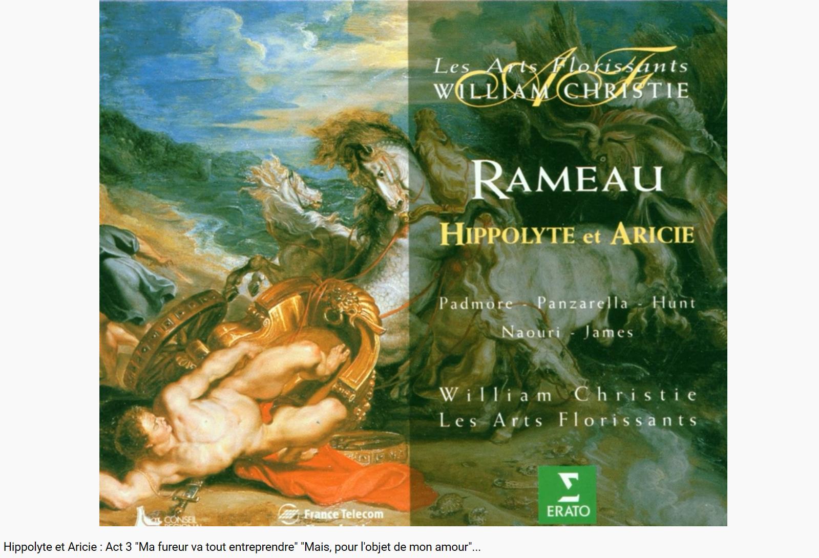 Rameau Hippolyte et Aricie final Ma fureur va tout entreprendre