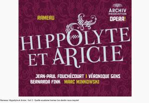 Rameau Hippolyte et Aricie Quelle soudaine horreur