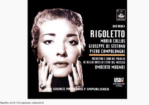 Verdi Rigoletto V'ho ingannato, colpevole fui
