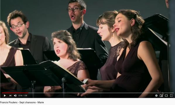 Poulenc Sept chansons Marie