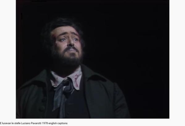 Puccini Tosca E lucevan le stelle Pavarotti (MET)