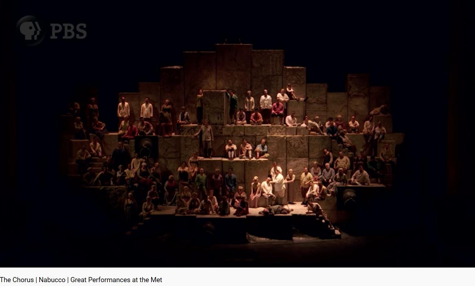 Verdi Nabucco Va pensiero MET
