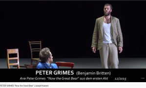 Britten Peter Grimes Now the great bear
