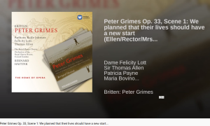 Britten Peter Grimes We planned that their lives