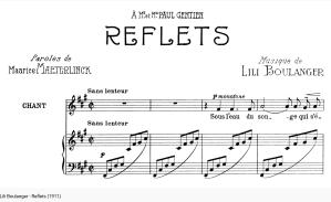 Lili boulanger Reflets (mélodie)