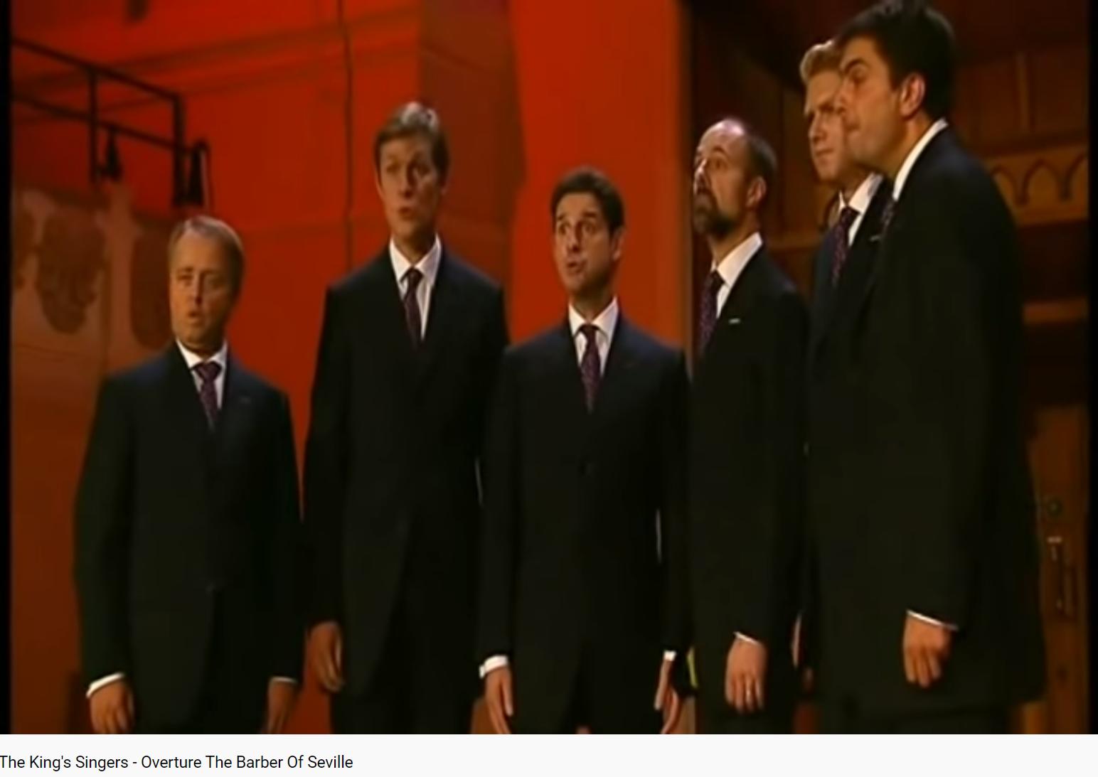 Rossini ouverture du Barbier de Séville King's Singers