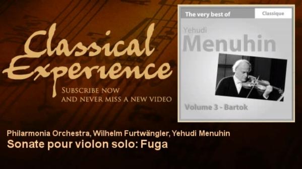 Bartok sonate pour violon seul