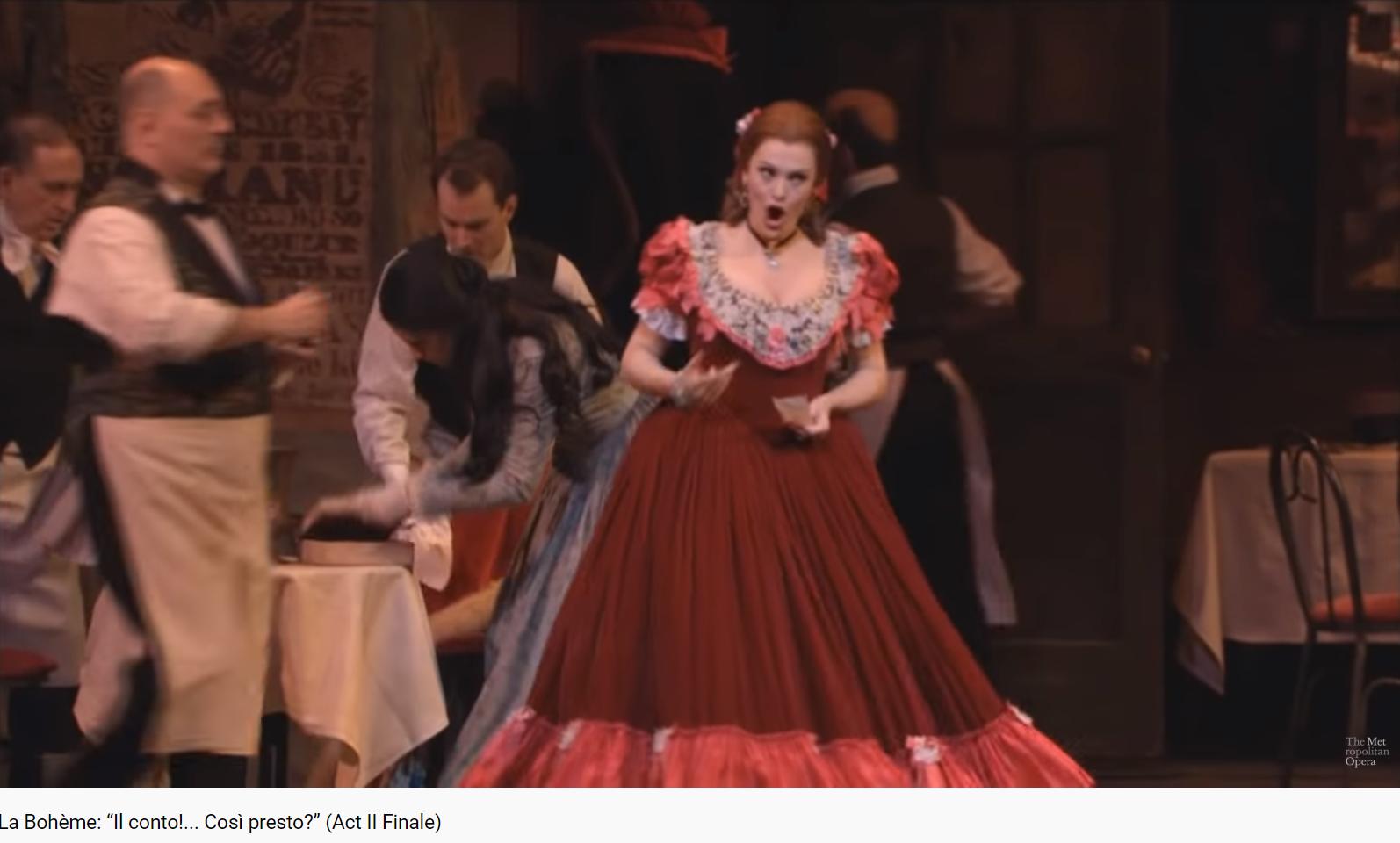 Puccini La Bohème Act II final (MET)